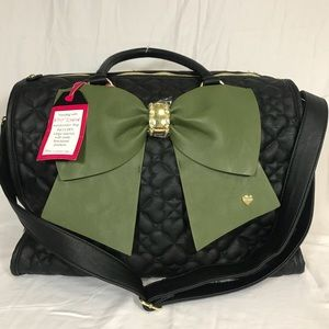 Betsey Johnson Quilted Heart Weekender Travel Bag